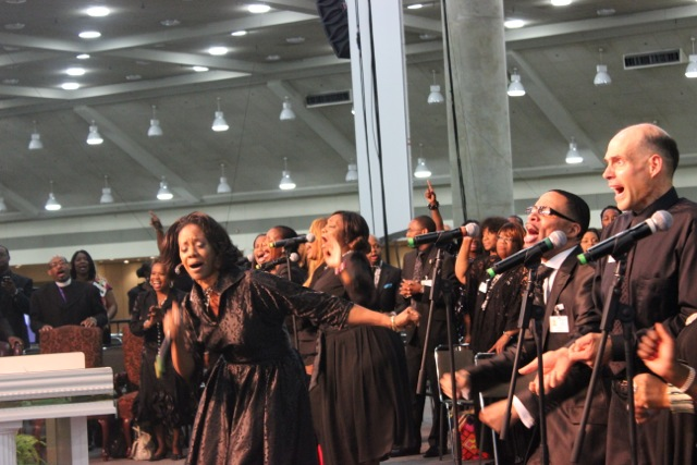 Dr. Judith C. McAllister at COGIC AIM Convention
