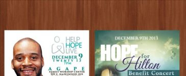 Hope for Hilton concert will help rasie funds for kidney transplant
