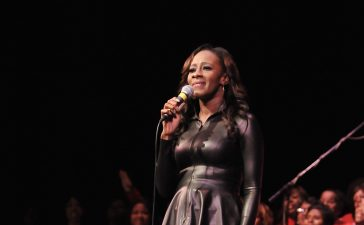 Leandria Johnson sings with Mississippi Mass Choir