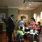 Dorinda Clark Cole gives out roses at Ronald McDonald House