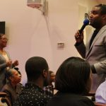 Phillip Carter engages audience