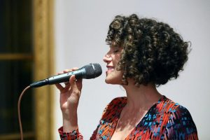 Recording Artist Cyrille Aimee sings