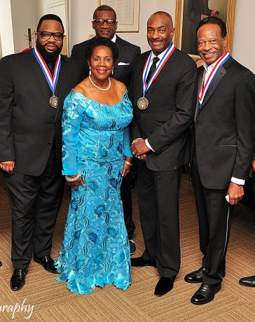 Gospel Music Heritage Foundation honorees backstage at Kennedy Center