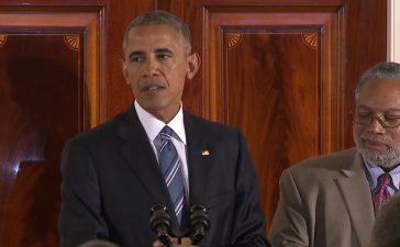 President Obama speaks at reception