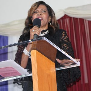 Dr. Teresa Hairston speaks during DMV Worship Summit