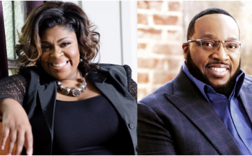 Gospel artists Kim Burrell and Marvin Sapp at the 18th annual BMI Trailblazers of Gospel Music Honors