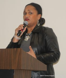 Vikki Johnson speaks at fellowship