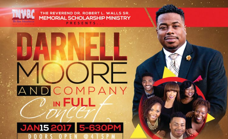 Darnell Moore giving concert