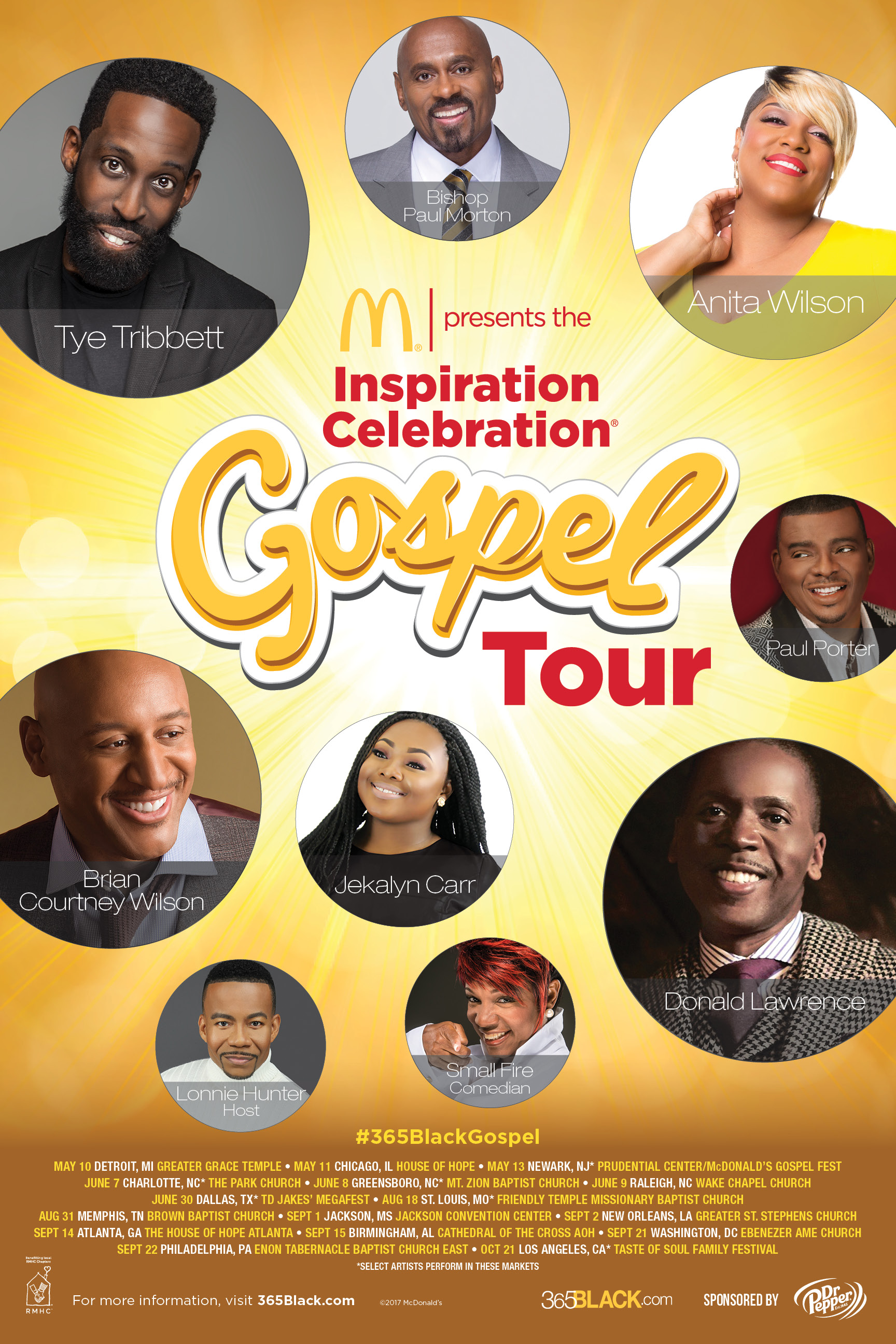 Dates announced for 11th annual Inspiration Celebration Gospel Tour