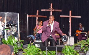 Jerome Bell sings 'Mr. Bojangles' at Black Music Month celebration