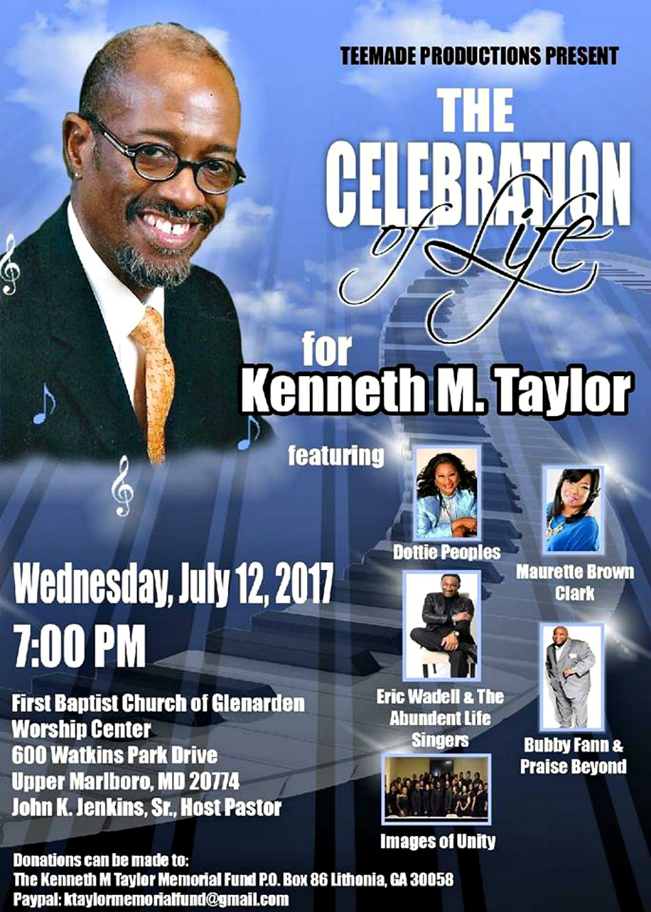 Memorial Service announced for Kenny Taylor; musical tributes held this weekend