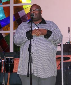 Brodric Purvis emceed Friday's showcase at IGAA