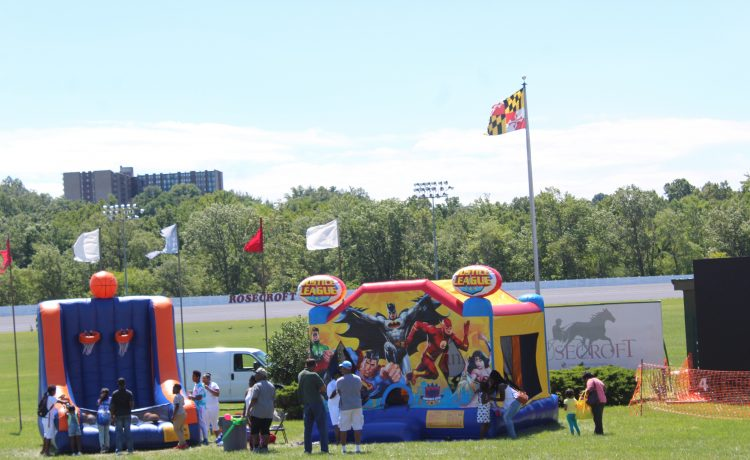 Kids activities at Community Day at Rosecroft Raceway