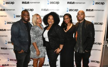Tasha Page-Lockhart with ASCAP Executives