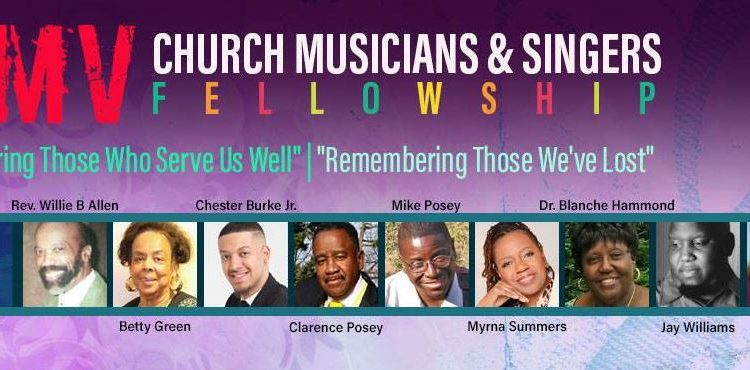 DMV singers and Musicians Fellowship will honor musicians