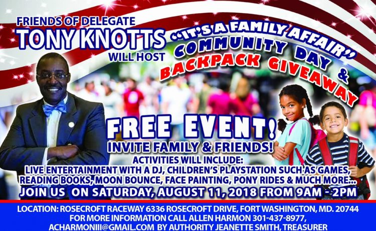 Tony Knotts Community Day Event offers backpacks