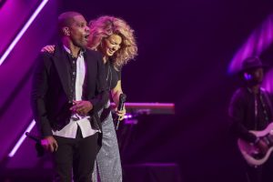 Kirk Franklin and Tori Kelley perform