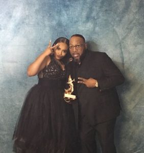 Koryn Hawthorne and Marvin Sapp backstage