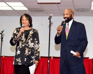 Jacquie Gales Webb and Winston Chaney emcee Bridging the Gap live recording