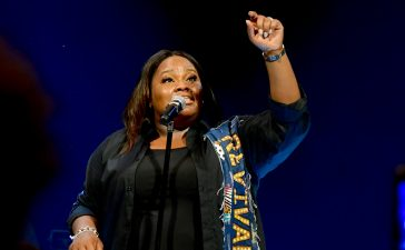 Tasha Cobbs Leonard performs during sold-out concert