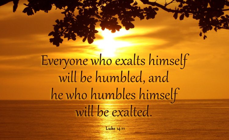God exalts the humble Luke 14_11