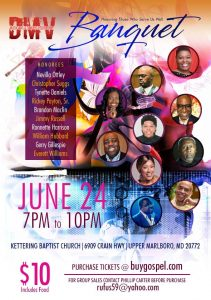 DMV Singers and Musician Fellowship banquet