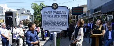 Michael W. Smith and Amy Grant reveal the historical marker