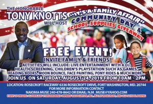 Tony Knotts Community Day August 24