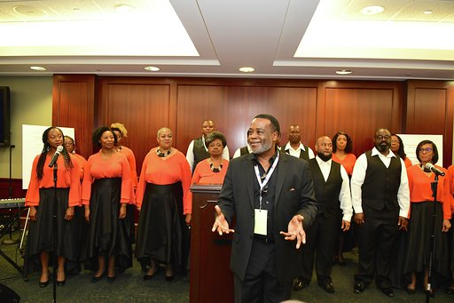 Patrick Lundy & the Ministers of Music perfirm at the Gospel Music Heritage Month Celebration
