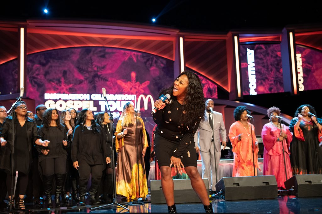 LeAndria Johnson sings at McDonald's Inspiration Celebration Gospel Tour