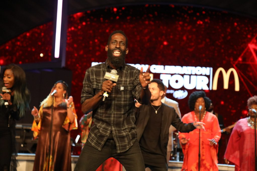 Tye Tribbett performs at McDonald's Inspiration Celebration Gospel Tour