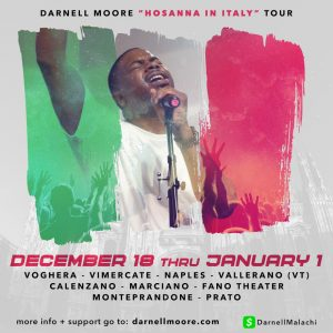 Darnell Moore tour Italy