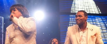 Earnest Pugh and Shirley Caesar at live recording
