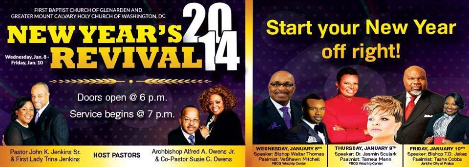 First Baptist Church of Glenarden holds New Year's revival