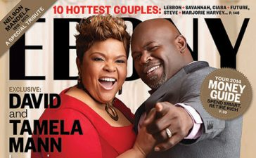 Tamela and David Mann make the cover of Ebony magazine