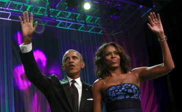 Barack and First Lady Michelle at Phoenix Awards