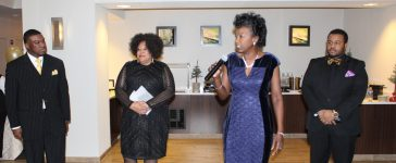 Jonre Music Group execs at networking event