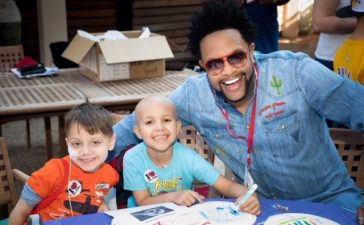 Jawn Murray with Adrian and Sebastian at St. Jude Celebration of Hope