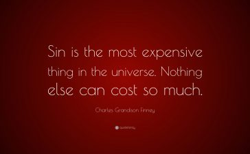 Sin's consequence and God's grace