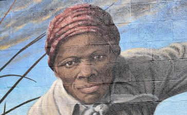 Harriet Tubman mural in Cambridge, MD